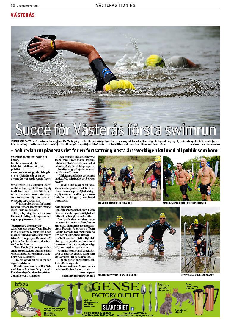 Västerås Swimrun – om loppet 2016 i media