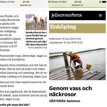 Enköpingsposten från Västerås swimrun