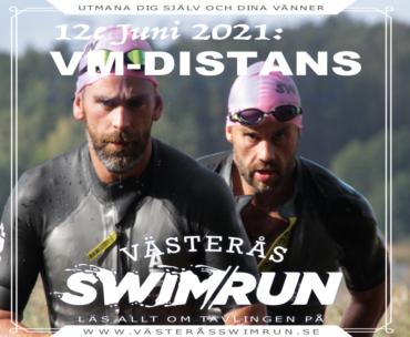 Västerås Swimrun – VM distans 12e Juni – Max 25 lag